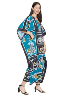 Loose V-Neck Gown Kaftan - Plus - 4