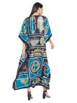 Loose V-Neck Gown Kaftan - Plus - 2