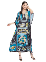 Loose V-Neck Gown Kaftan - Plus - 7
