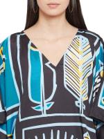 Loose V-Neck Gown Kaftan - Plus - 3