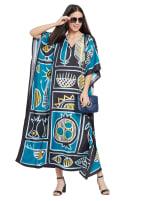 Loose V-Neck Gown Kaftan - Plus - 6