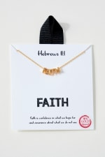 FAITH Inspirational Gold Dip Necklace - 4