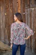 Animal Floral Fly Away Back Blouse - 2