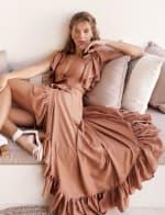 Carmen Wrap Maxi Dress - 1