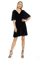 Oakless Flutter Sleeve Fit And Flare Dress - 1
