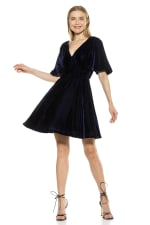 Oakless Flutter Sleeve Fit And Flare Dress - 3