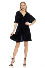 Oakless Flutter Sleeve Fit And Flare Dress - 4