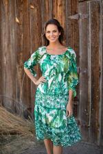 Alexa  Jade Fern Mixed Print Peasant Dress - 5