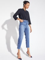 Westport Signature 5 Pocket Skinny Ankle Jean With Snap Button At Ankle - 12