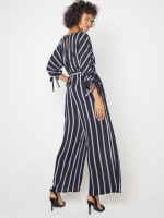 Stripe Jumpsuit with Belt - 2