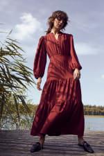 Kim Wine Button Placket Dress - 3