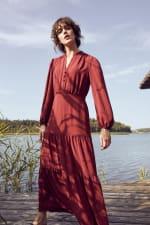 Kim Wine Button Placket Dress - 8