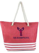 The Hamptons Striped Straw Beach Tote - 2