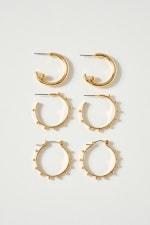 Set of Three Unique Hoop Earrings - 3