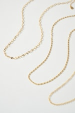 Set of Three Simple Chain Necklace - 4