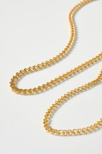 Set of Curb Chain and Simple Chain Necklaces - 4