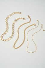 Set of Three Different Chain Necklace - 1
