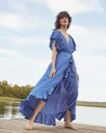 Carmen Wrap Maxi Dress - 5