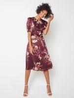 Deb Floral Pebble Jacquard Dress - Petite - 6
