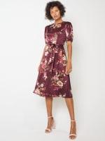 Deb Floral Pebble Jacquard Dress - Petite - 3