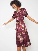 Deb Floral Pebble Jacquard Dress - Petite - 7