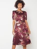 Deb Floral Pebble Jacquard Dress - Petite - 1