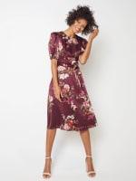 Deb Floral Pebble Jacquard Dress - 3