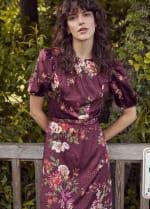 Deb Floral Pebble Jacquard Dress - 4