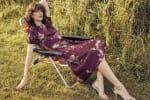 Deb Floral Pebble Jacquard Dress - 5