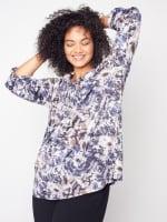 Roz & Ali Diamond Stitch Tie Dye Popover - Plus - 1