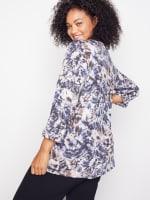 Roz & Ali Diamond Stitch Tie Dye Popover - Plus - 5