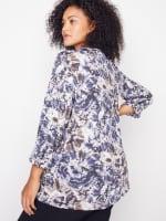 Roz & Ali Diamond Stitch Tie Dye Popover - Plus - 2