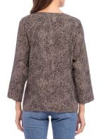 Lucille 3/4 Sleeve Tie Front Top - 2