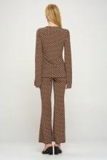 Tunic Tie Top Palazzo Pants Matching Set - 2