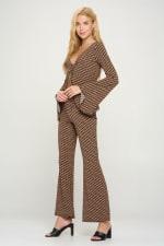 Tunic Tie Top Palazzo Pants Matching Set - 3