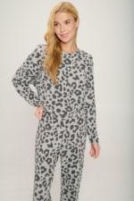 Loungwear Set Animal Leopard Long Sleeve Jogger - 5