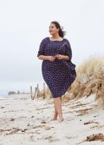 Dot Midi Length Dress - Plus - 5
