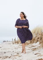 Dot Midi Length Dress - Plus - 1