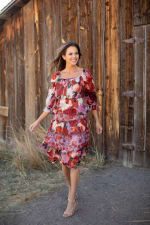 Sprouse Cherry/Lavender Two Piece Skirt Set - 7