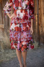 Sprouse Cherry/Lavender Two Piece Skirt Set - 3