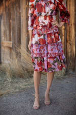 Sprouse Cherry/Lavender Two Piece Skirt Set - 10