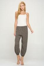 Women's Fashion Elastic Hem Harem Jogger Pants - 1