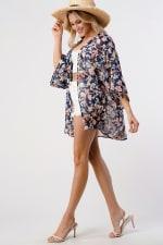Loose Fit Kimono In Chiffon Duster Top - 5