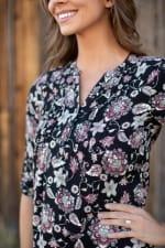 Westport Floral Pintuck Popover- Petite - 3