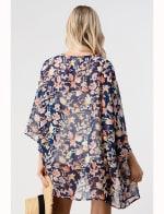 Loose Fit Kimono In Chiffon Duster Top - 2