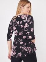 Westport Floral Asymmetrical Knit Top - 2