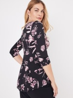 Westport Floral Asymmetrical Knit Top - 5