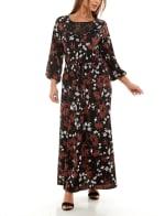Adrienne Vittadini Three Quarter Sleeve Maxi Dress - 4
