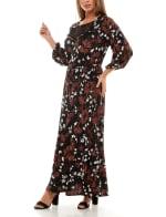 Adrienne Vittadini Three Quarter Sleeve Maxi Dress - 5