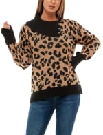 Adrienne Vittadini Long Sleeve With Split Neck Pullover Sweater - 3